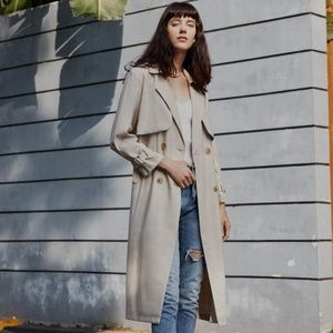 Double-breasted Loose Midi TrenchCoat